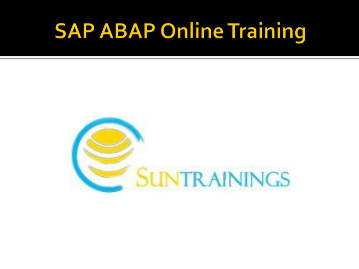 sap abap online training n.