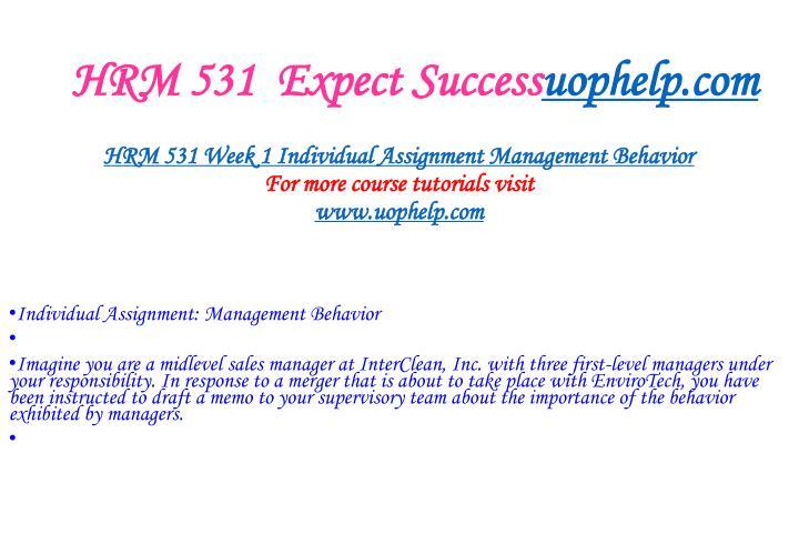 Hrm 531 expect success uophelp com1