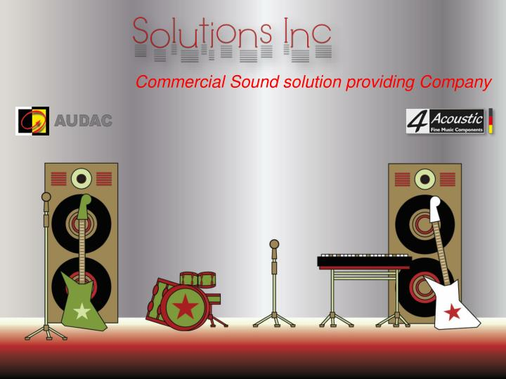 Commercial Sound solution providing Company
