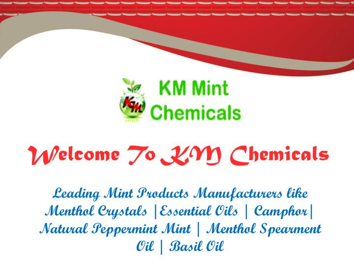 Welcome To KM Chemicals