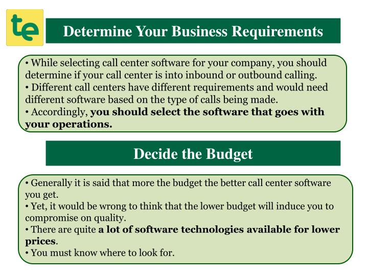 Determine Your Business Requirements