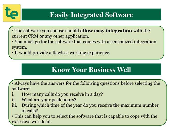 Easily Integrated Software