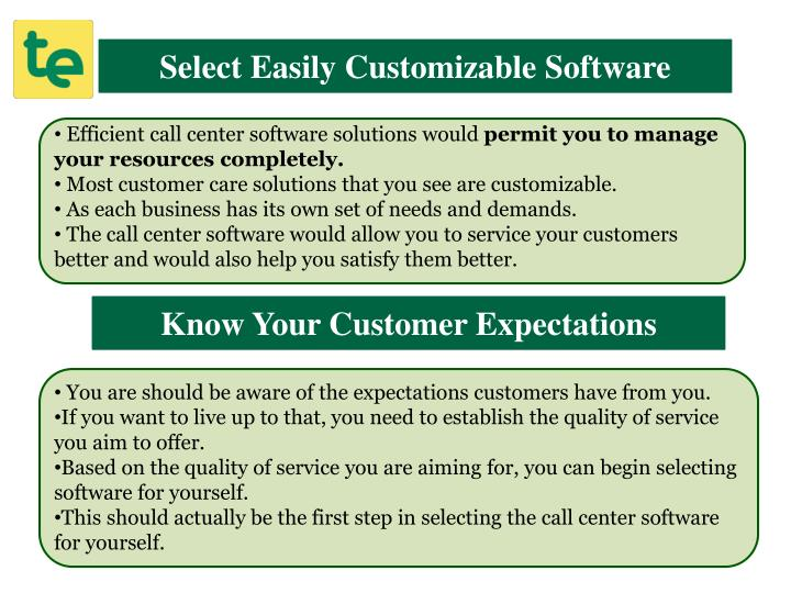 Select Easily Customizable Software