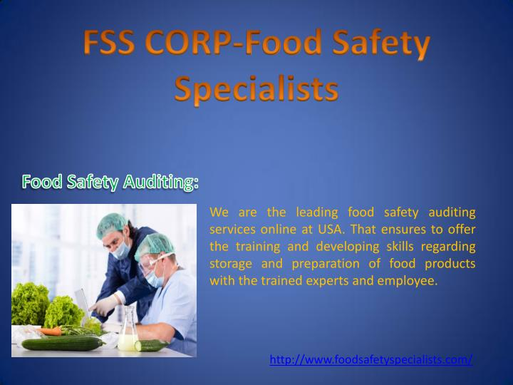 We are the leading food safety auditing