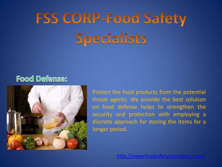 Protect the food products from the potential