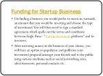 funding for startup business