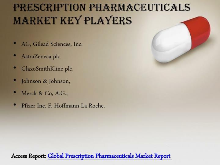 Prescription pharmaceuticals market key players