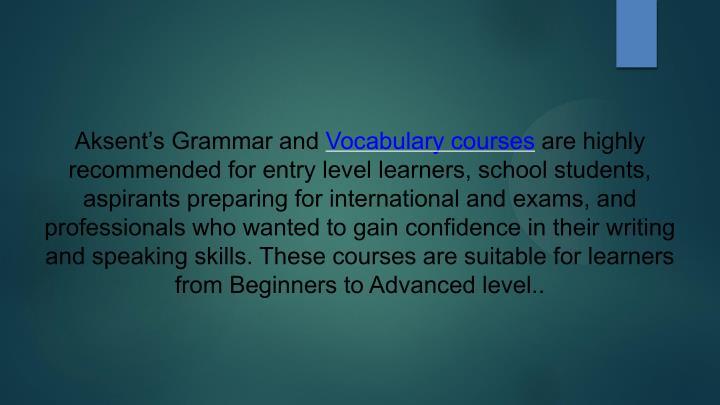 Aksent's Grammar and