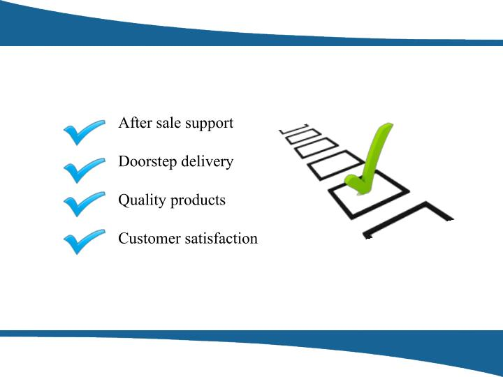 After sale support