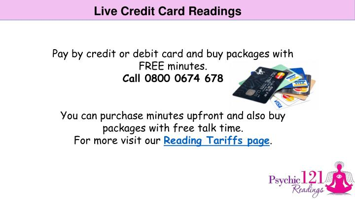 Live Credit Card Readings