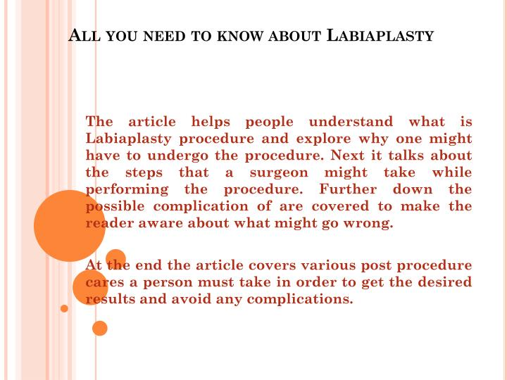 all you need to know about labiaplasty n.