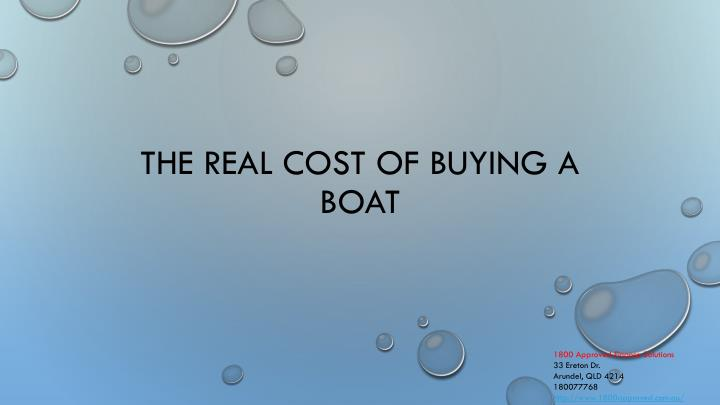 the real cost of buying a boat n.
