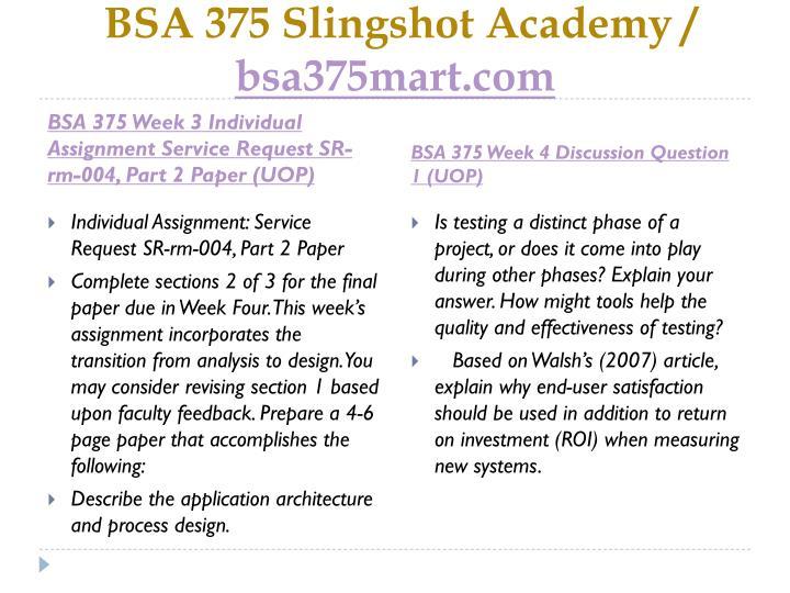 BSA 375 Slingshot Academy /