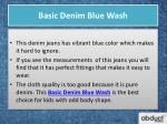 basic denim blue wash