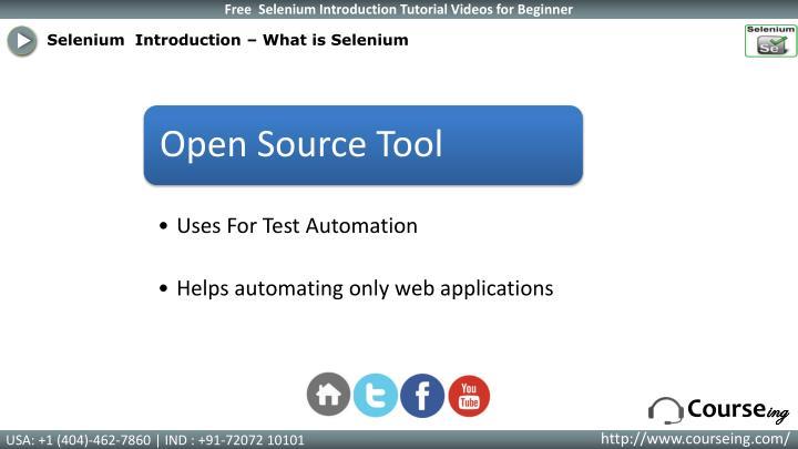 Selenium  Introduction – What is Selenium
