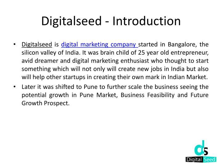 Digitalseed introduction