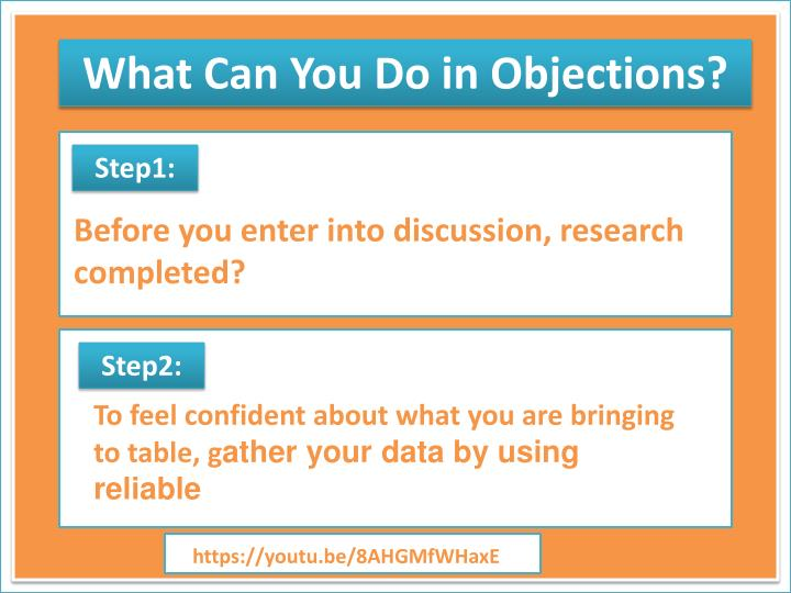 What Can You Do in Objections?