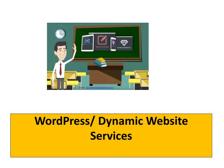 Wordpress dynamic website services