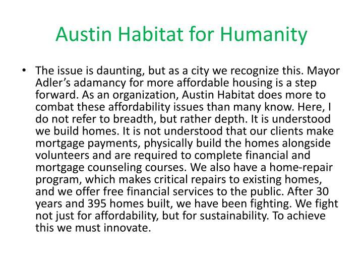 Austin Habitat for Humanity
