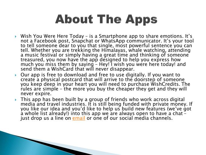 About the apps
