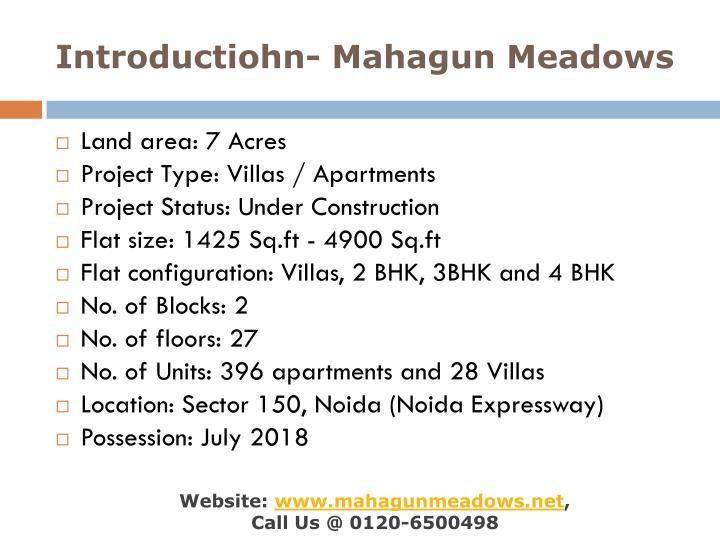 Introductiohn mahagun meadows