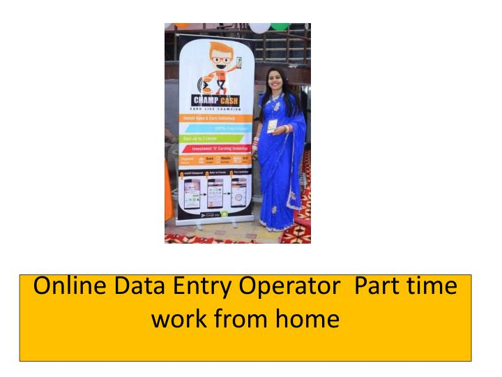 online data entry operator part time work from home n.