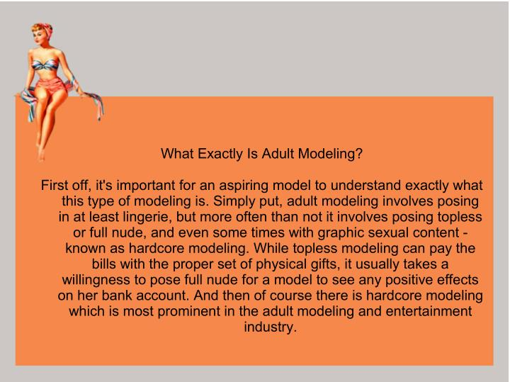 What Exactly Is Adult Modeling?