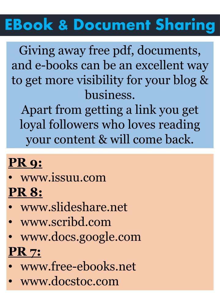 EBook & Document Sharing