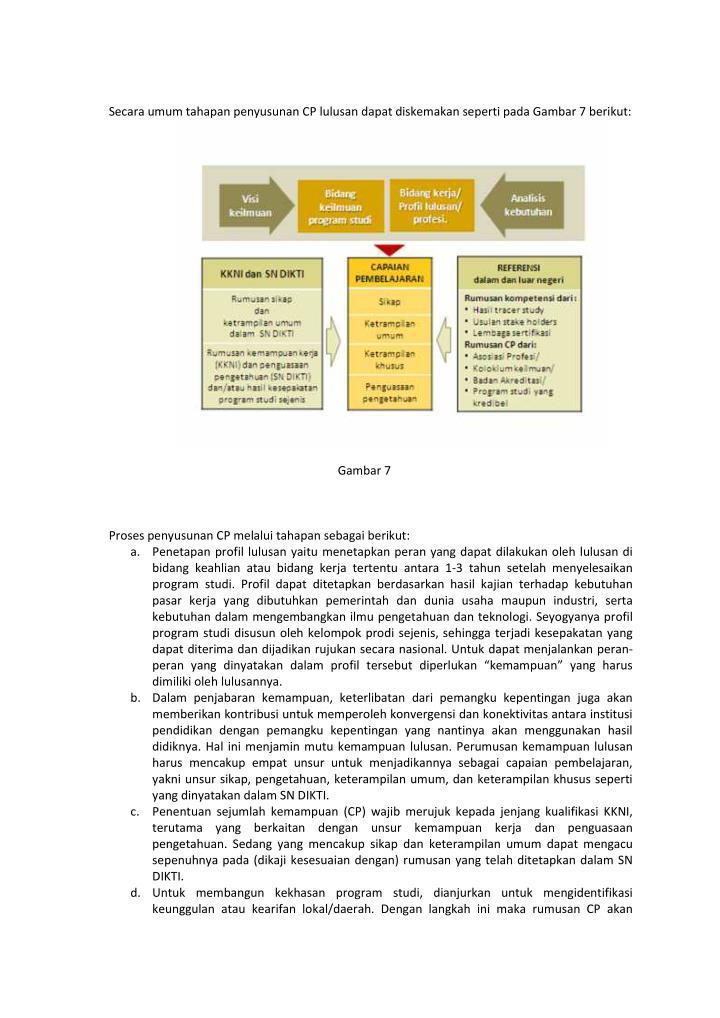 Secara umum tahapan penyusunan CP lulusan dapat diskemakan seperti pada Gambar 7 berikut: