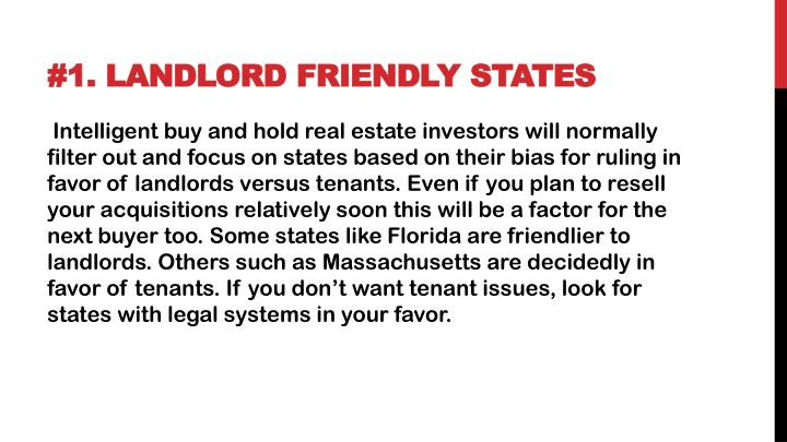 1 landlord friendly states