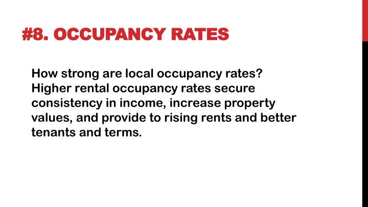 #8. Occupancy