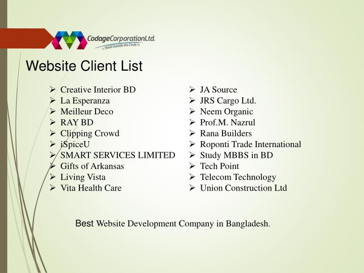 Website Client List