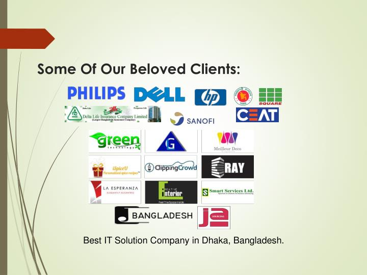Some Of Our Beloved Clients: