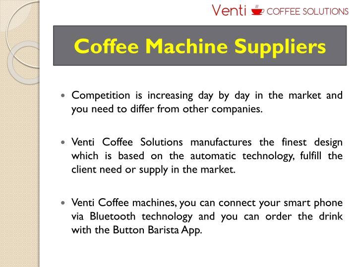 Coffee machine suppliers
