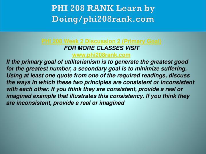 PHI 208 RANK Learn by Doing/phi208rank.com