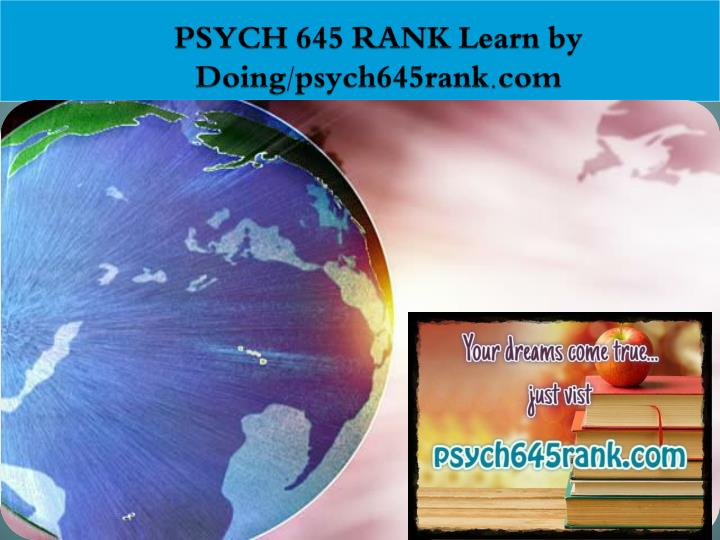 psych 645 rank learn by doing psych645rank com