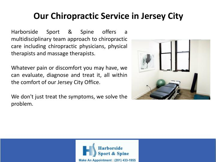 Our Chiropractic Service in Jersey City