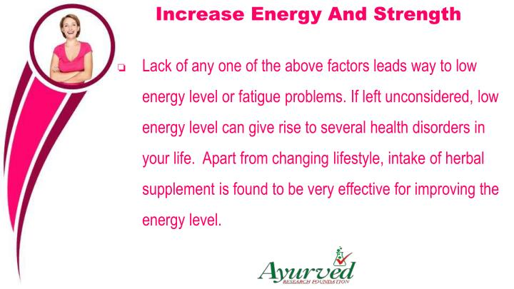Increase Energy And Strength