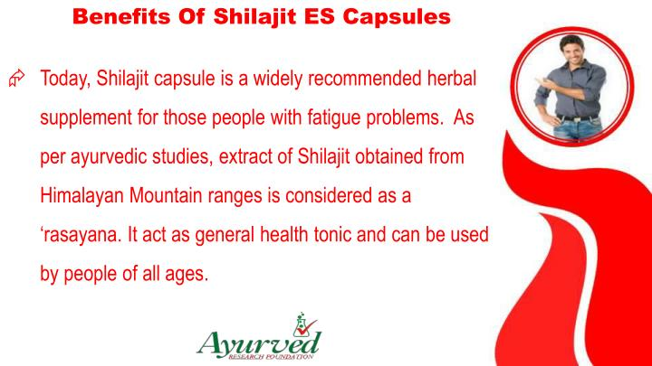 Benefits Of Shilajit ES Capsules
