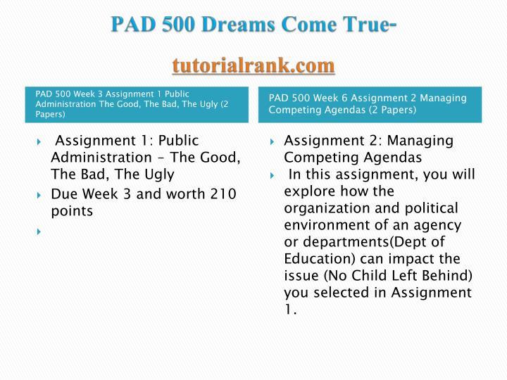 Pad 500 dreams come true tutorialrank com1