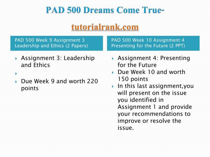Pad 500 dreams come true tutorialrank com2