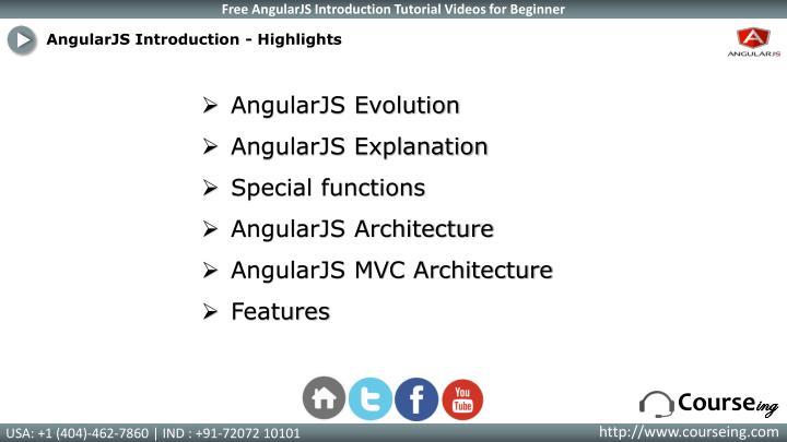 AngularJS Introduction - Highlights