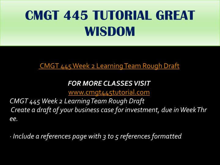 rough draft business case for investment View rough draft business case for investment from cmgt /445 at university of phoenix running head: rough draft business case for investment rough draft business case for investment shawn casey.