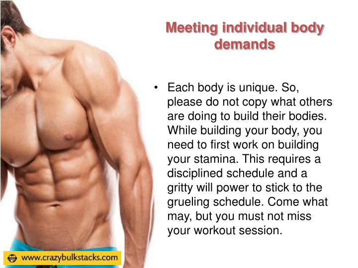 Meeting individual body demands