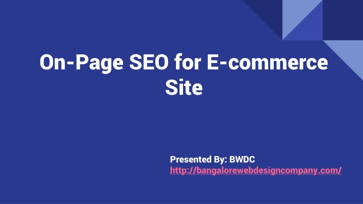 on page seo for e commerce site n.