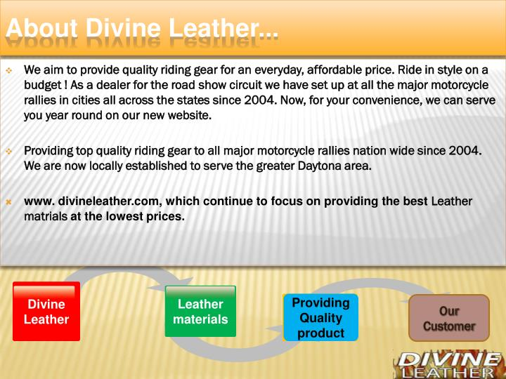 About divine leather