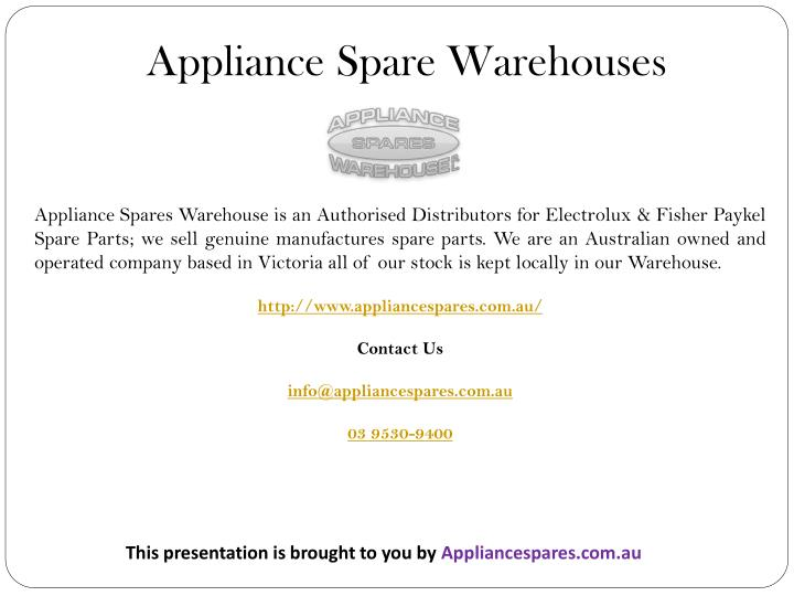 Appliance Spare Warehouses