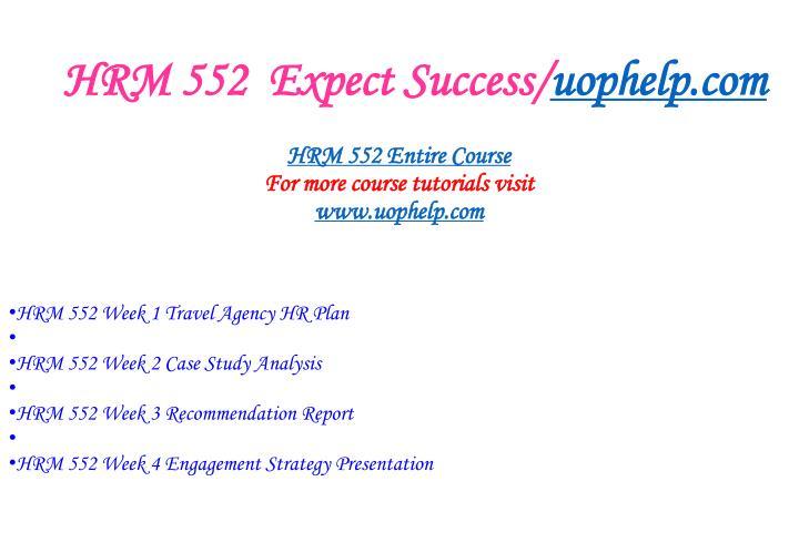 Hrm 552 expect success uophelp com1