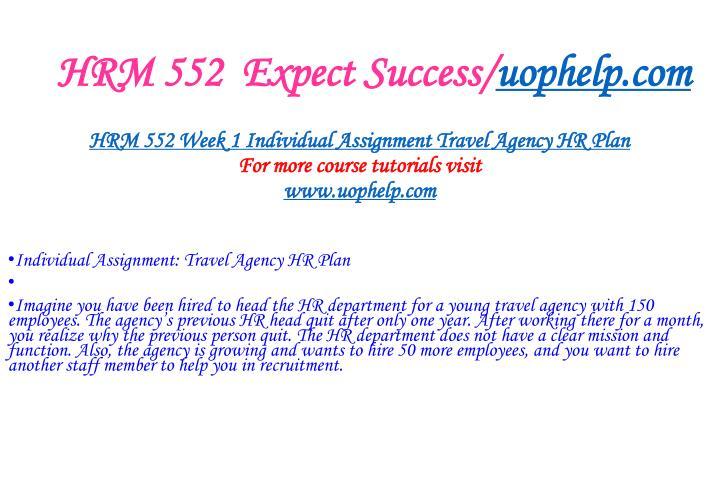 Hrm 552 expect success uophelp com2