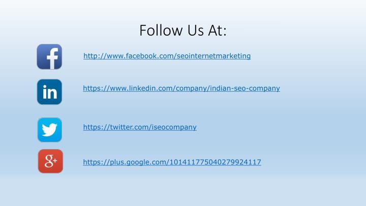 Follow Us At: